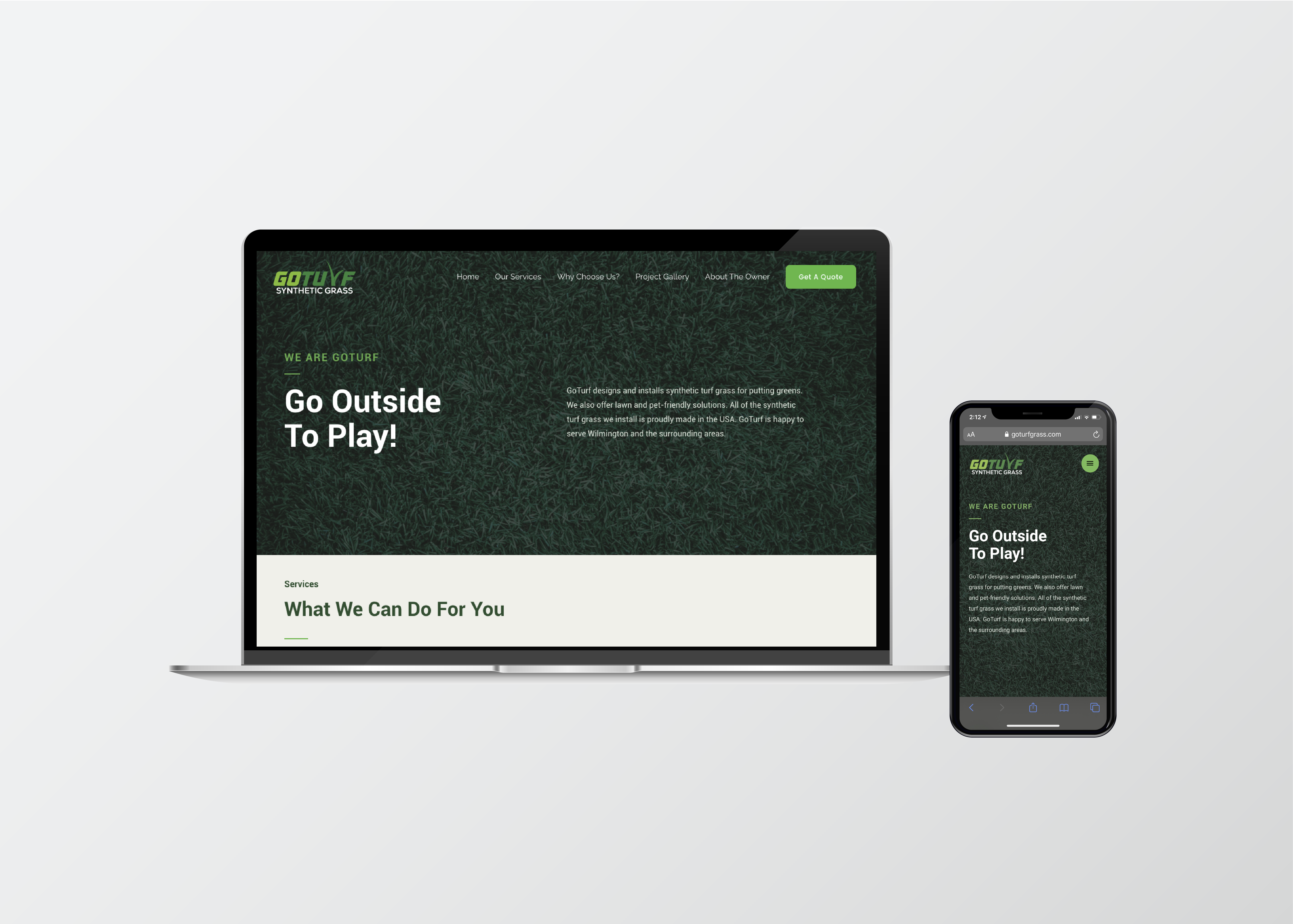 Go Turf Website